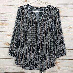 NYDJ women's long sleeve button down blouse